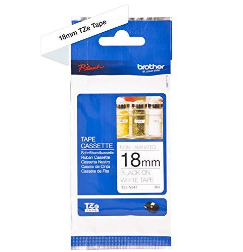 Brother Original P-touch Schriftband TZe-N241 18 mm, schwarz auf weiß (kompatibel u.a. mit Brother P-touch 1830/VP, -D400/VP, -D450, -D600/VP, -P700, -2430) nicht laminiert