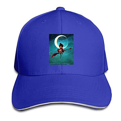 Hualihusao Kubo and The Two Strings Adult Retro Denim Cap Adjustable Baseball Cap for Outdoor Peaked Cap Black