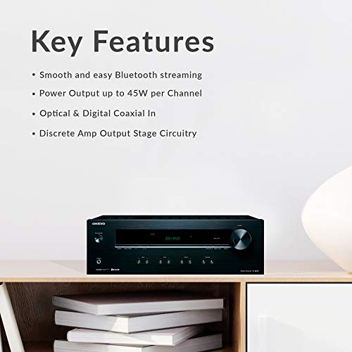 Onkyo TX-8220 2 Home Audio Channel Stereo Receiver with Bluetooth,black