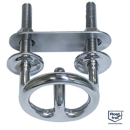 Mareteam® Wasserskihaken aus Edelstahl A4-AISI 316 rund 60 x 100 mm