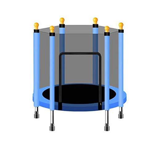 LQLD Mini Kids Cama Elástica, Ejercicio Trampolines De Interior O Exterior con El Recinto De La Seguridad Neto Y Muelle De La Almohadilla Adecuados para El Ejercicio Garden,Azul,110cmX120cm