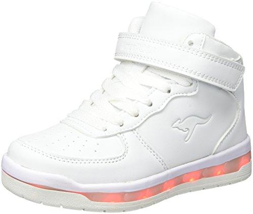 KangaROOS Unisex-Kinder K-LID Sneaker, Weiß (White), 38 EU