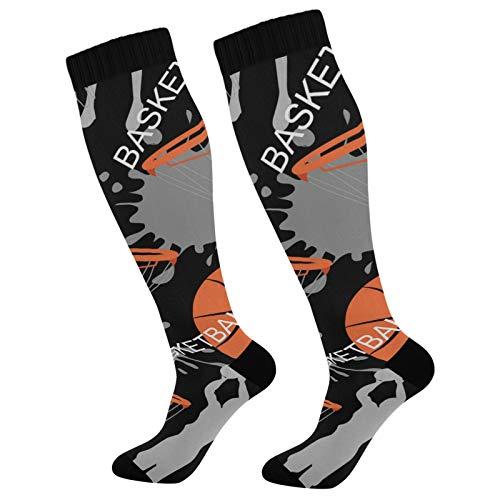 PUXUQU Calcetines largos de baloncesto vintage para hombre y mujer, 1 unidad