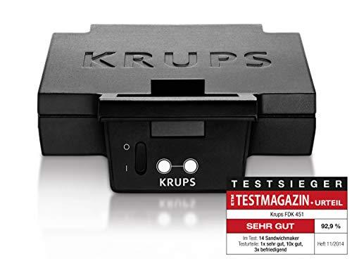 Krups FDK 451 Sandwich-Toaster (850 Watt, Toastplatten 25 x 12 cm) schwarz