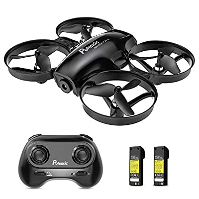 Potensic A30 Mini Drone for Kids, Altitude Hold RC Drone with 2 Detachable Batteries, One Key Take-Off or Landing, Auto Hover, Quadcopter with Headless Mode, Toy Gift for Boys and Girls