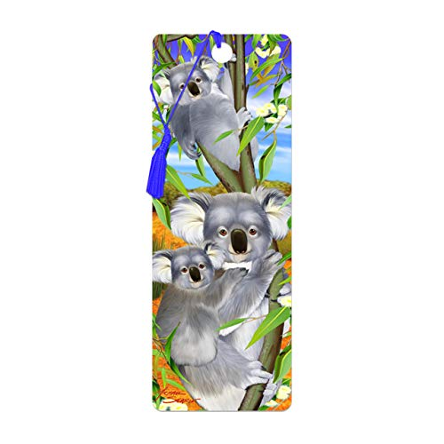 3D LiveLife Bookmark - Koala Cuddle from Deluxebase. A Koala Book Marker with lenticular 3D Artwork Licensed from Renowned Artist Michael Searle