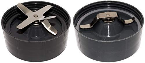 Nutri Bullet 1Klinge + 1Mahlblatt, flache Klinge mit Dichtungen installiert, grau