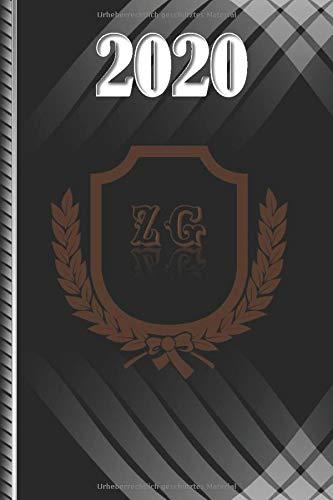 Terminplaner 2020: mit deutschen Feiertagen 2020 und Initialen ZG, Größe 6x9 Zoll (15,24 x 22,86 cm) [JLPortelaP]