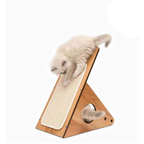 Yunobi Katzen-Kratzer – Katzenrampe Neigungskeil Kratzrampe Interaktives Katzenspielzeug, langlebige Holzstruktur Spielzeug für Indoor Katzen