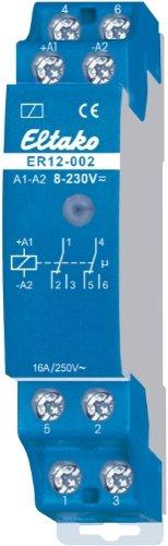 Eltako 2000534 REG-Schaltrelais, 2 Wechsler 2000W, UC, potentialfrei ER12-002-UC
