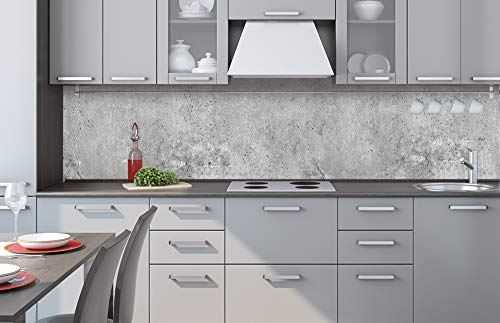 DIMEX - Pellicola autoadesiva per parete della cucina, in cemento II, 260 x 60 cm, pellicola adesiva, pellicola decorativa, paraspruzzi per cucina, qualità premium