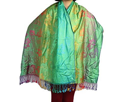 Highwaypay Gypsy hippie Boho Women's Fashionable Retro Style Floral Pattern Pashmina Shawl Wrap Scarf 2566