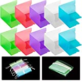 ANCIRS 20 Pack Portable Mask Storage Clips, Folding Mask Storage Box for...