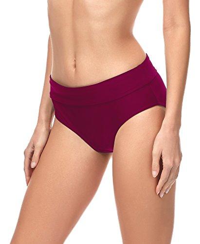 Merry Style Slip Bikini Pezzo sotto Costume MSVR5 (Borgogna (5288), 46)