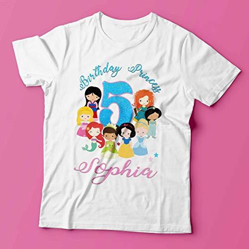 Disney Princess Birthday Shirt/Disney Princess Shirt/Princess Birthday Shirt/Disney Princess Outfit/Princess Party Shirt