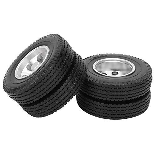 VGEBY 2 Piezas RC Remolque Ruedas traseras neumático para Tamiya 1/14 camión Tractor RC Escalador Piezas de Remolque Buena adherencia