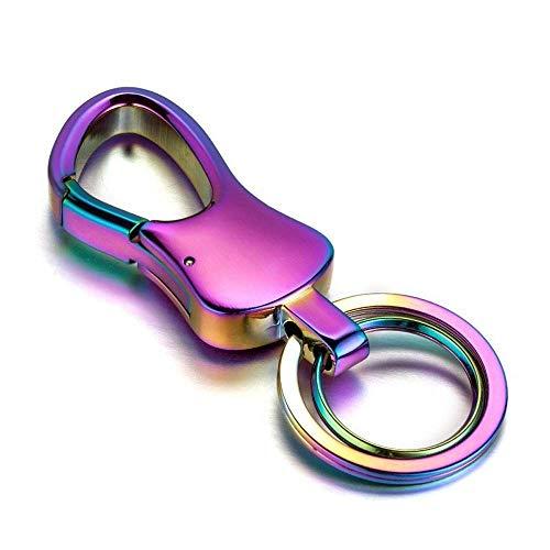 YNHNI Llavero Llavero Accesorios de automóvil llaveros de Metal llaveros de Moda para Hombres Mujeres Llaves Pendientes Prevención Prevención Llavero (Color : Colorful with Box, Size : Free)