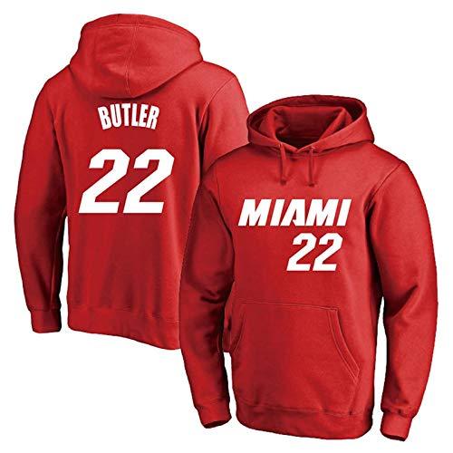 Jimmy Butler No.22 Miami Heat Men's Basketball Sudadera con Capucha Sudadera Sudadera Suelta Manga Larga Entrenamiento Cómodo Casual Top (Color : C, Size : 3XL)