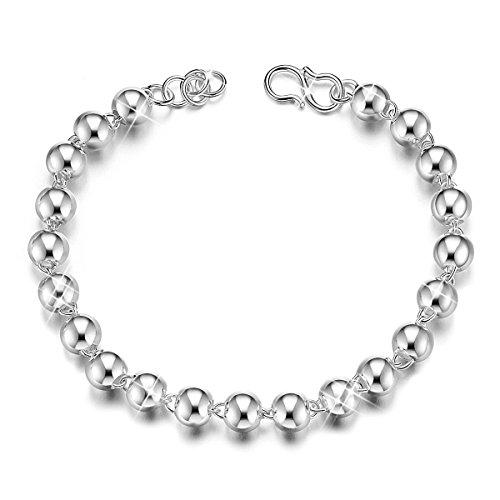 SHEGRACE Bracciale in argento sterling 925 con perline