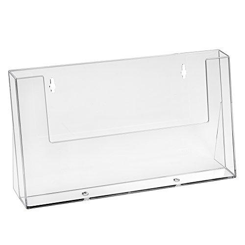 DIN A4 Prospekthalter im Querformat transparent