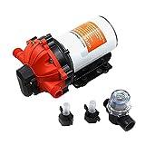 Yi-Achieve Bomba de presión de agua de diafragma de 12 V DC...