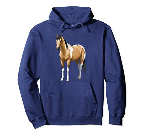 Buckskin Pinto Dun Quarter Paint Horse Lovers Gift Pullover Hoodie