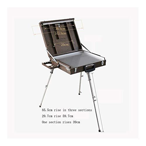SYLOZ Portable Oil Painting Box, Portable Oil Painting Frame, Travel Bracket, Metal Art Tool Box, Foldable Multifunctional Desktop Art Supplies, Beginner Artists, Children, Adults URG