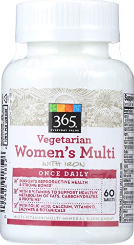 365 Everyday Value, Vegetarian Women's Multi with Iron, 60 ct