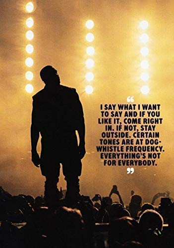 Generic Kanye West The Life Pablo Foto Poster Yeezus Yeezy Boost Bluse CD 005 (A5-A4-A3) - A3