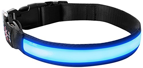 LivingABC LED Dog Collar, USB Rechargeable...