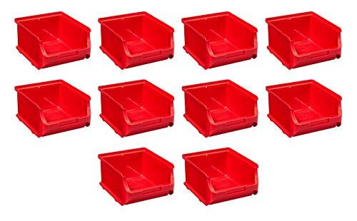 Preisvergleich Produktbild 10x Stapelbox Gr2B Stapelboxen Lagerboxen Lagerkiste ProfiPlus Rot Allit 456241 Sichtlagerbox