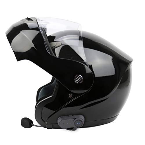 Casco Moto per adulti Bluetooth Moto Off-Road Flip Up Full Face Inverno caldo Moto Motocross Caschi XXL