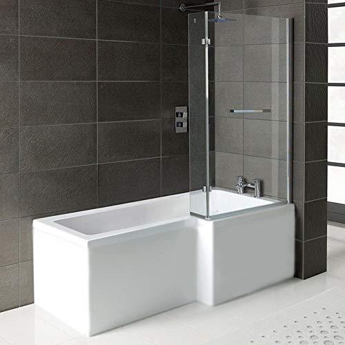 Badewanne SYNA Rechts 167,5x85/70cm+ Duschkabine + Wannenträger