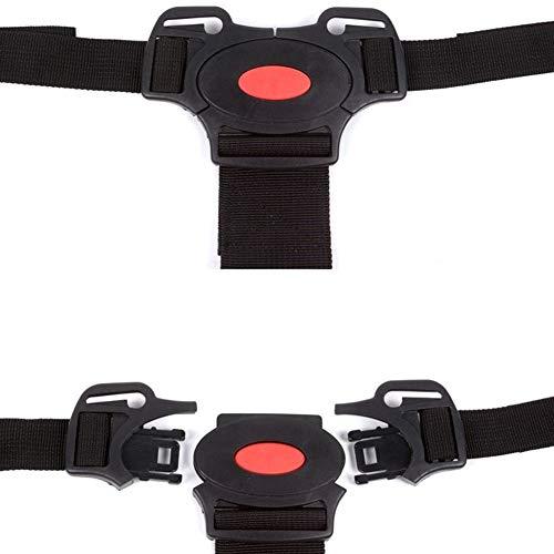 Seggiolone per bambini sedia da pranzo cintura di sicurezza a cinque punti cintura di protezione rossa 1 confezione