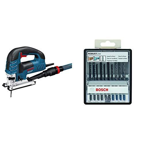 Bosch Professional GST 150 BCE - Sierra de calar, profundidad corte 150 mm, en maletín, 780 W + Bosch - Robustline Madera y Metal