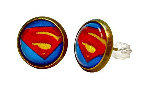 Superman Geralin Gioielli pendientes pendientes pendiente joyas