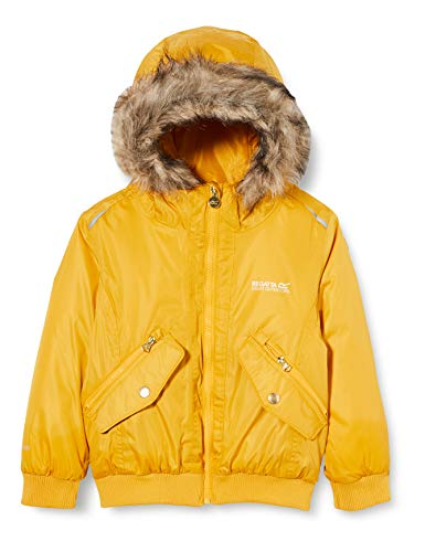 Regatta Kids Benicia Waterproof Taped Seams Insulated Lined Hooded Jacket With Reflective Trim MineralYellow 9 10