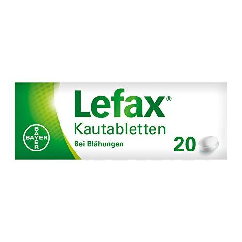 Lefax Kautabletten bei leichten Blähungen, Druck- und Spannungsgefühl im Bauch, für die ganze Familie, Kinder ab 6 Jahren, 20 Stück