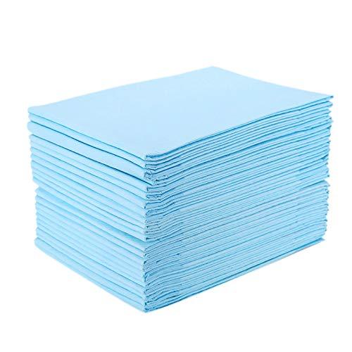 Iycorish 25 PièCes/Paquet Coussin de Soins pour Adultes, Couches Jetables pour Coussin D'Allaitement, 60X90Cm, Tapis de VêLage Maternel, Bleu