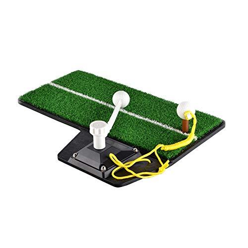 DSLINA Trainer Golf-Übungsgerät/Langlebige Indoor-Golf-Swing-Matte/Golf Swing Launch Pad Golf Trainer Mat