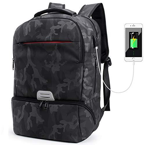 Laptop Rucksack mit USB Ladeanschluss,Tarnung Camouflage Daypack Schultaschen Rucksäcke Schulrucksäcke Schulranzen Taschen für Teenager Mädchen Jungen (Tarnung)