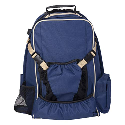Huntley Equestrian Backpack, Navy Blue, One Size