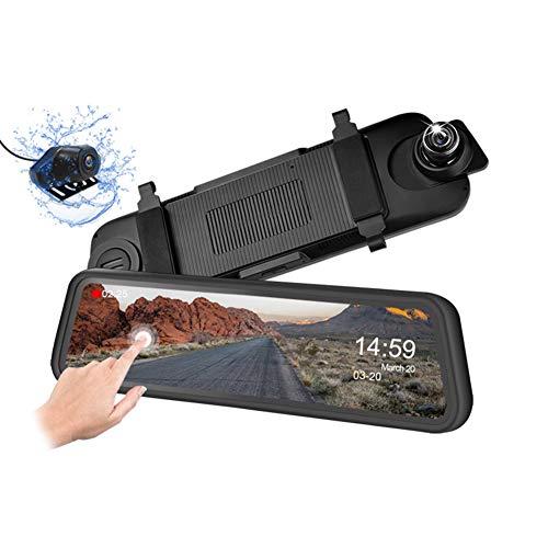 Registratore di Guida A Doppia Lente, HD Night Vision Monitoraggio Dash Cam 10 Pollici Full Touch Screen Car Retrovisore Videoregistratore