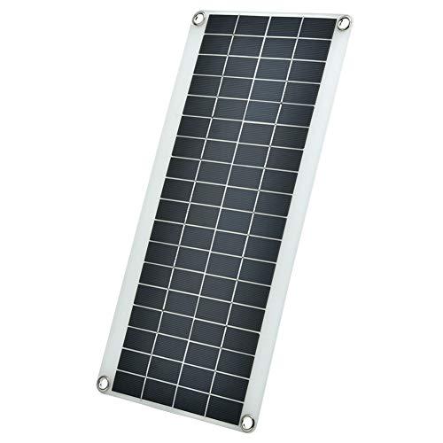 Flexibel Solarpanel Outdoor 20W Solarpanel Kit mit 10A 12/24V Solarladeregler Tragbares Polykristallines Solarmodul Solarladegerät für Zuhause/Wohnmobile/Anhänger/Boote/Camping/Auto