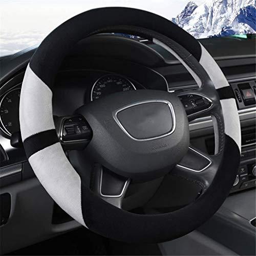 JXXDDQ Funda de felpa suave para volante de coche, antideslizante, para coche, SUV, Scania, serie R, P y S, autobús, RV, camión, excavadora, grúa