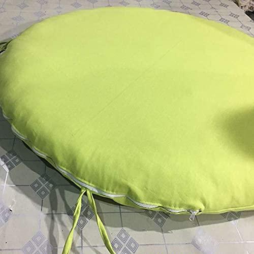 Aocean Cojín de Asiento de Suelo de Tatami extraíble versátil, cojín de Silla de Papasan de Lino Grueso, cómodo cojín de Silla de Huevo Colgante Cojines de Silla de Hamaca Verde Claro D25cm