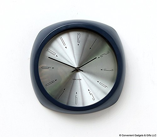 Karlsson Aesthetic Reloj, Reloj de Pared, Aluminio, Blue, One Size