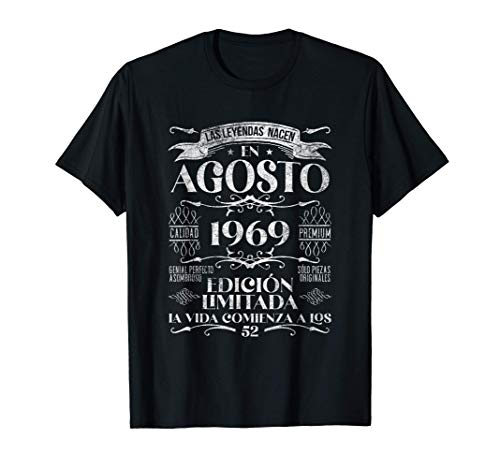 Las Leyendas nacen en Agosto de 1969 - 52 años Cumpleaños Camiseta