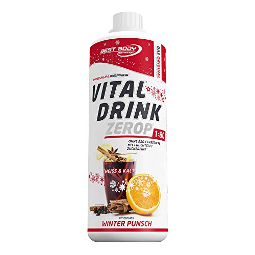 Best Body Nutrition Vital Drink Winter Punsch Limited Edition, Getränkekonzentrat, 1000 ml Flasche