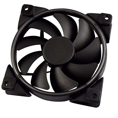 Ventilador de refrigeración para PC con luz LED RGB de 12 cm Ventilador de chasis de PC silencioso PWM de 4 pines inteligente, sincronización de placa base, ventiladores de carcasa coloridos ajustable